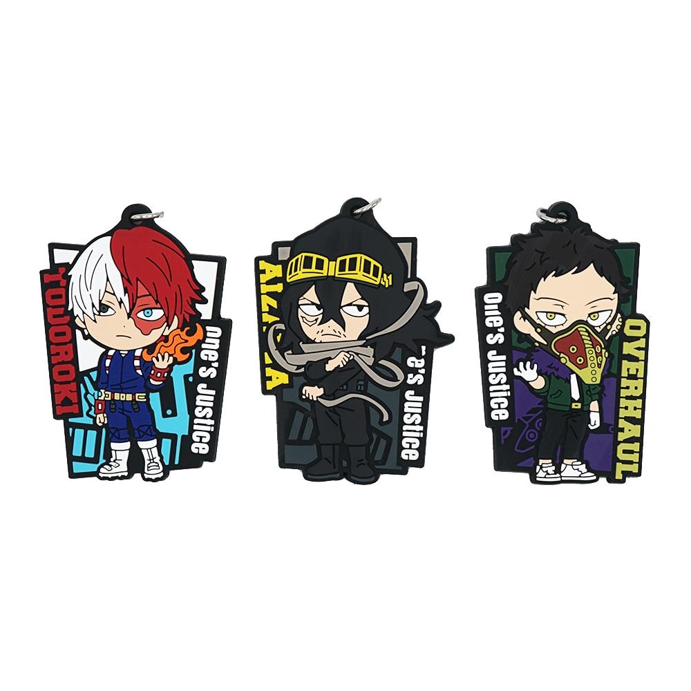 My Hero Academia Anime Boku No Hero Academia Overhaul Todoroki Shoto Aizawa Shota Eraser Head Rubber Keychain