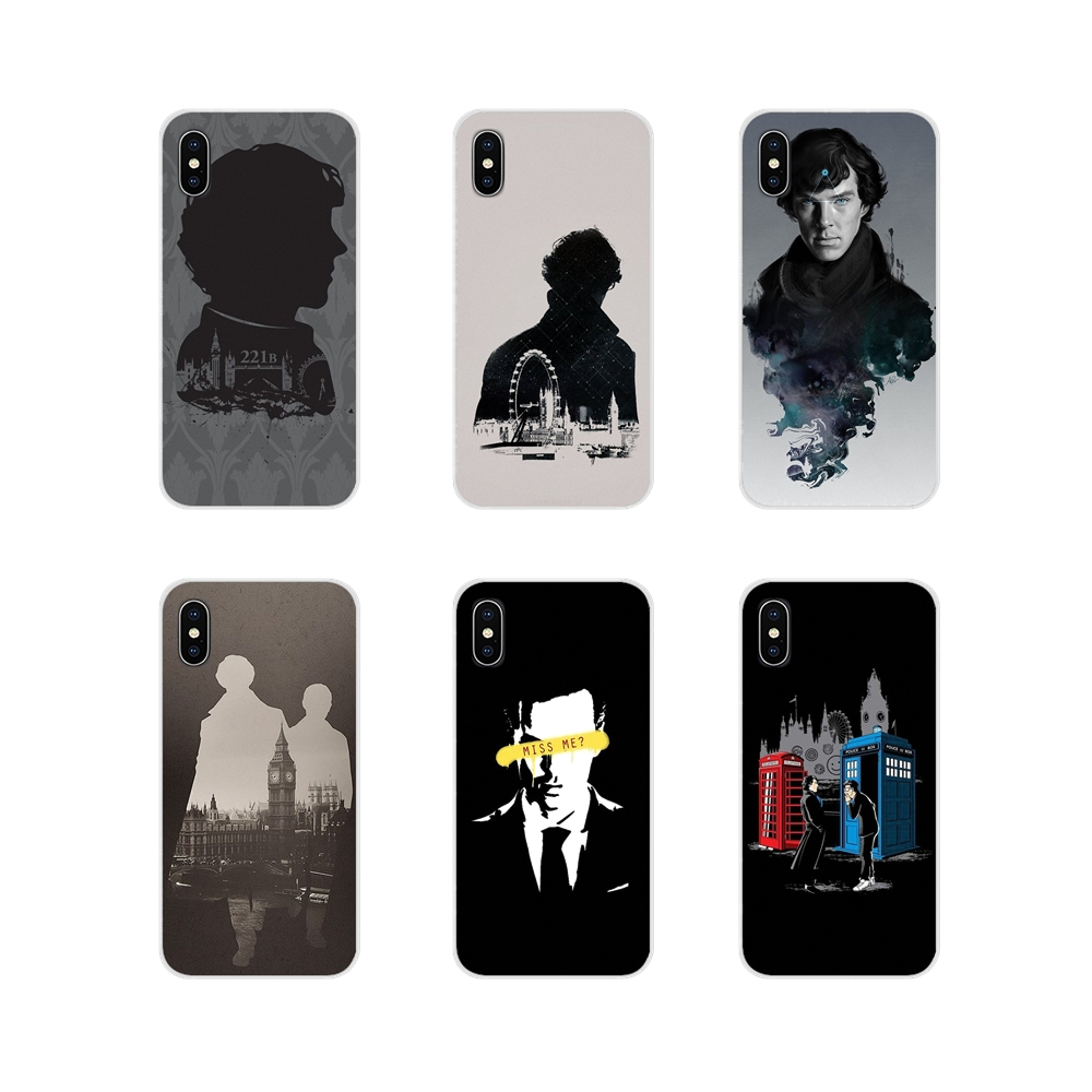 For Motorola Moto X4 E4 E5 G5 G5S G6 Z Z2 Z3 G G2 G3 C Play Plus Accessories Phone Cases Covers 221B Sherlock Holmes