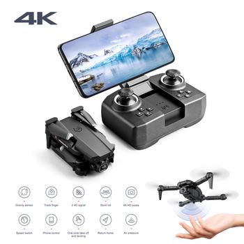 2020 nowy Mini Rc Drone XT6 4K 1080P HD podwójny aparat WiFi FPV ciśnienie powietrza wysokość trzymaj składany Quadcopter Gps Dron na zabawki chłopięce tanie i dobre opinie FoPcc CN (pochodzenie) Z tworzywa sztucznego About 100 meter 18*15*4CM Mode1 15 days Silnik bezszczotkowy 3 7V 4 kanały