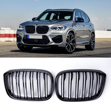 1 Paar Grille Nier Grill 2 Slat Voor Bmw G01 G02 G08 X3 X4 2018-2021 Auto Styling gloss Black Racing Grills Accessoires