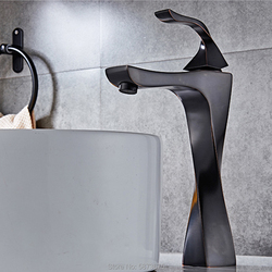 Black brass wash basin sink mixer faucet deck installation hot and cold bathroom basin new faucet