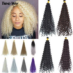 14-дюймовые синтетические волосы для наращивания, искусственные плетеные вязаные косички, пучки волос с Омбре, плетеные волосы, серые, розов...