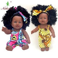 Кукла ростом 30 см/12 дюймов, милая кукла-реборн из волос афро, поп-кукла, полностью силиконовая Реалистичная игрушка для новорожденных