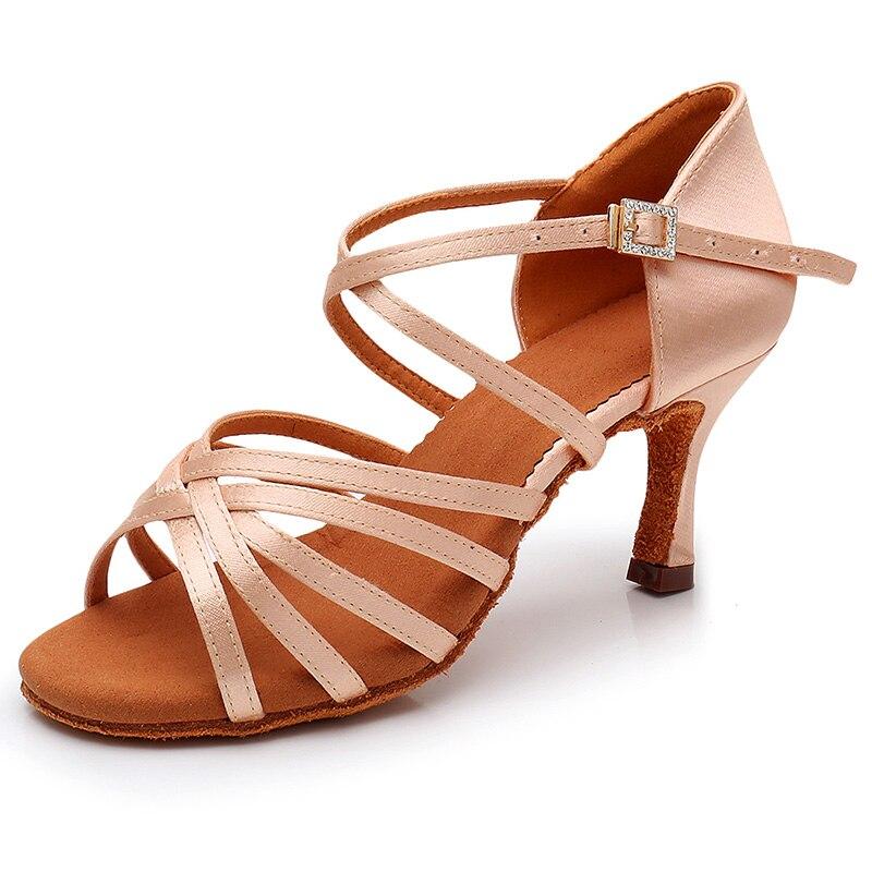 Image 3 - DIPLIP New Hot Latin Dance Shoes Womens High Heel Dance Shoes Tango Soft Bottom Dance Shoes 5 / 7cm Girls Salsa Ballroom ShoesDance shoes   -