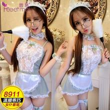 New Products [Selectable Delivery] WOMEN'S Sexy Underwear Uniform Temptation Summer Set Airline Stewardess Maid Maid(China)