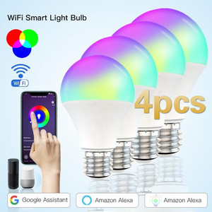 15W WiFi Smart Light Bulb B22 E27 LED RGB Lamp Alexa Google Home 85-265V RGB+White Dimmable Timer Function Magic Bulb Dropship