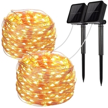 LED Outdoor Solar Lamp String Lights 100/200/300/400 LEDs Fairy Holiday Christmas Party Garland Solar Garden Waterproof Decor