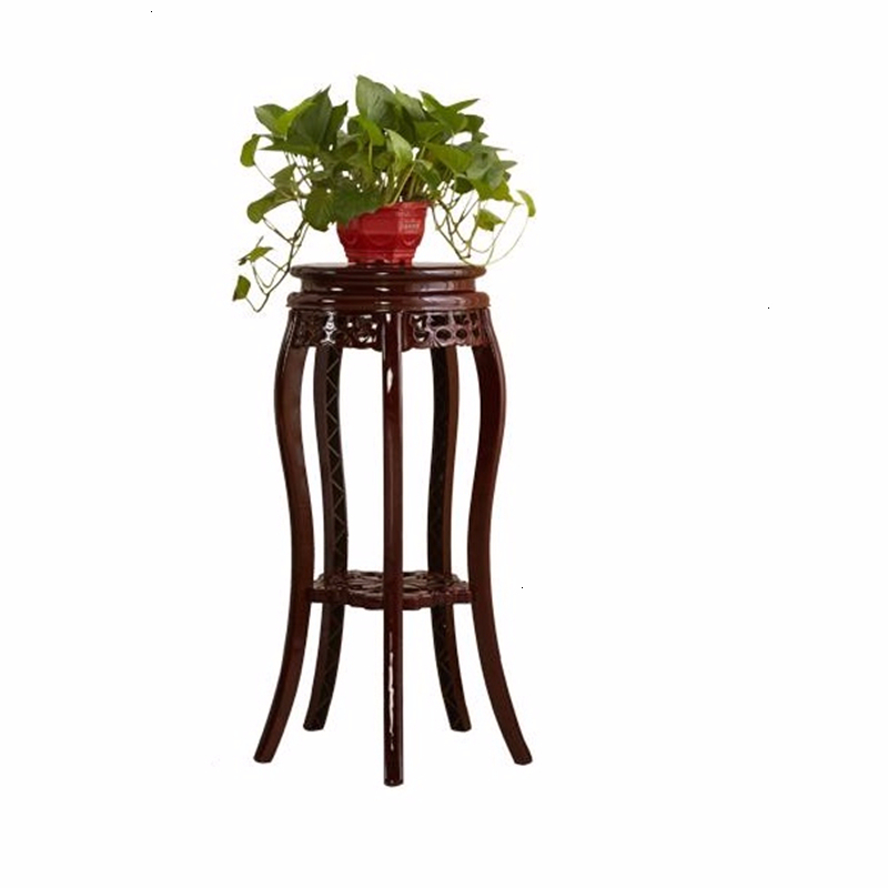 Decorativa Madera Saksi Standi Living Room Table Indoor Pot Stand Stojak Na Kwiaty Balcony Flower Dekoration Rack Plant Shelf