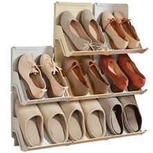 Prateleira de sapatos, prateleira de plástico para sapatos, sala de estar, 2 peças de auto montagem, casa, vertical, combinado, armário, porta, sapateira