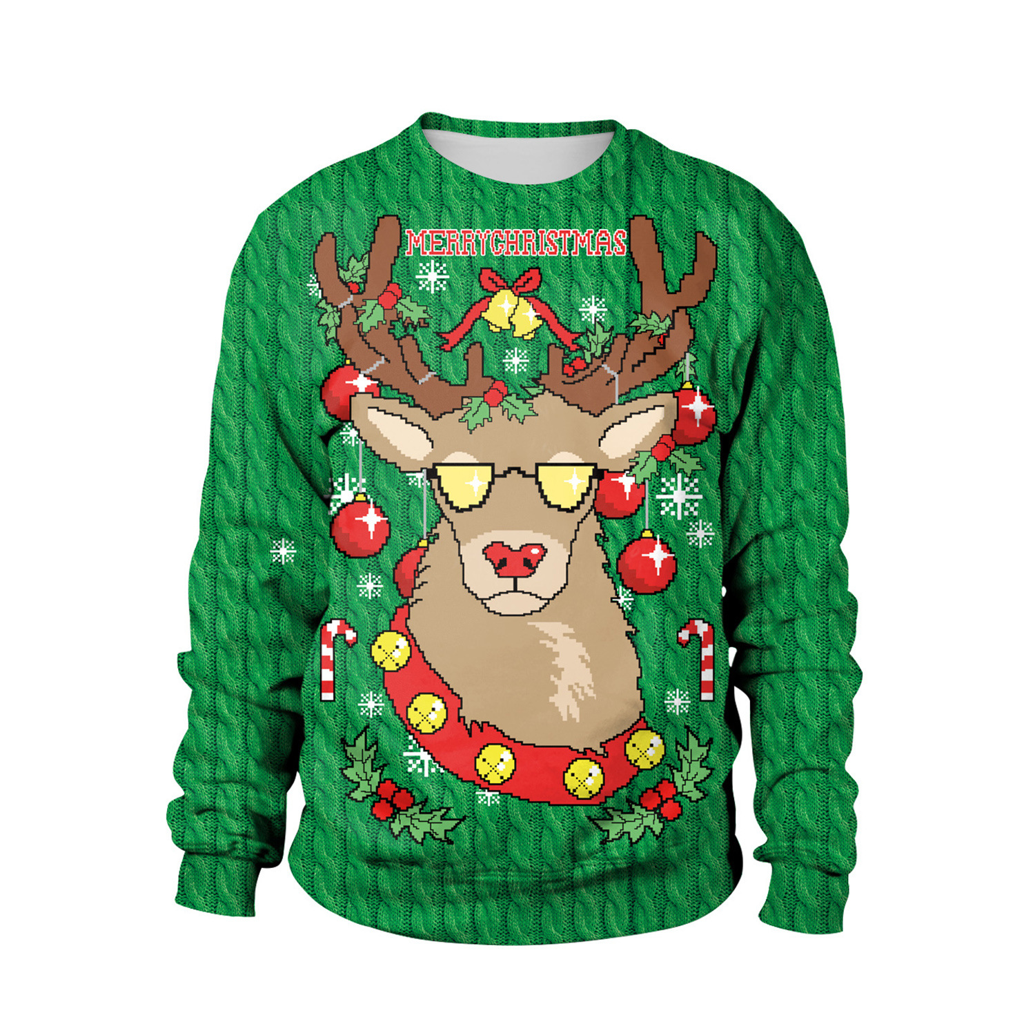 Cross Border Supply Of Goods Foreign Trade 2019 Christmas Deer Number 3D Digital Printing Hoodie Large Size Dress SB102-006