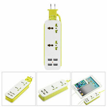 цена на US/UK/EU Plug Extension Socket Smart Travel Power Strip Surge 4 USB Charger Port Electrical Sockets Outlet with Usb Ports