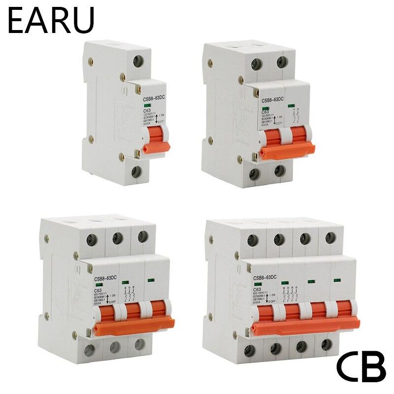 1 p 2 p 3 p 4 p dc 250 v-1000 v 10 mini interruptor solar mcb fusível sistema fotovoltaico solar engery 3/6/10/16/20/25/32/40 /50/63/80/100/125A