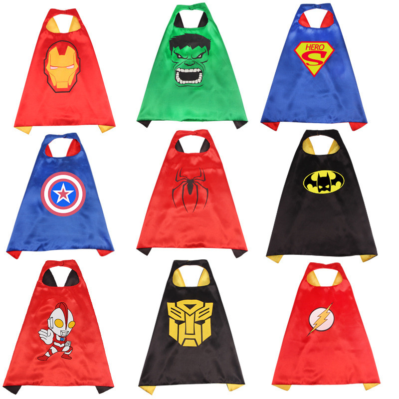 Halloween The Avengers Cosplay Costume Superhero Child Cloak Party Party Boy Girl Mask