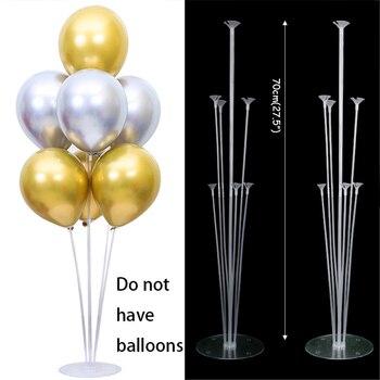 7x Tubes balloon stand birthday balloons arch stick holder wedding decoration baloon globos birthday party decorations kids ball 8