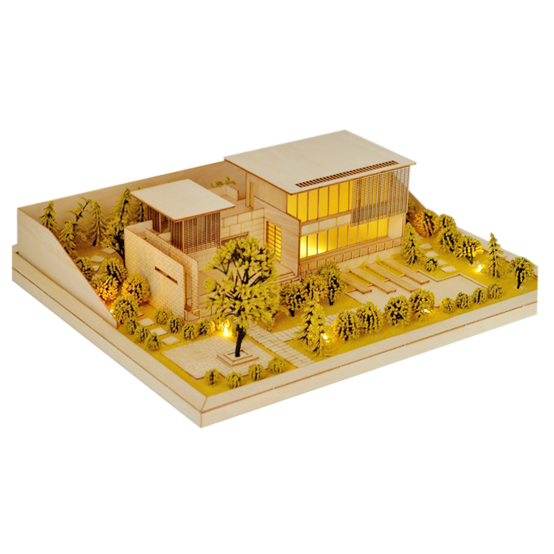 Hot Sale DIY Villa Model Kit Sand Table Architecture Assembly House Kit  With Light Model Educational Toy Gift For Kids Adults
