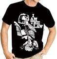Летняя стильная модная мужская черная футболка с рисунком судьи Dredd The Law (2000AD), с рисунком из комиксов, повседневная одежда в стиле хип-хоп