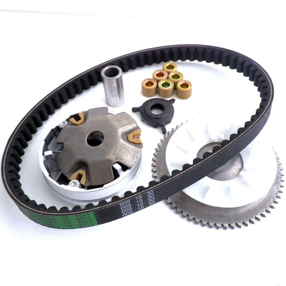 Ремень привода вентилятора для китайского скутера, мопеда GY6 49 50, запчасти 139QMB