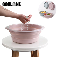GOALONE Multi-Purpose Collapsible Basin Plastic Portable Round Folding with Hanging Hole for Kitchen Outdoor Camping Wash