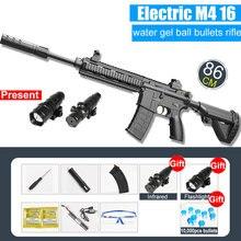 M416 Electric Burst bomba wodna automatyczny pistolet zabawkowy dla dzieci odkryty kryształ bomba gra pistolet prezent dla dzieci