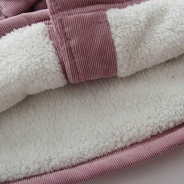 зимняя куртка для маленьких девочек флисовое плотное бархатное фотография