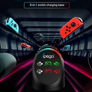Image 4 - Tay Cầm Chơi Game IPega PG 9187 6 Trong 1 Dock Sạc Chân Đế Phù Hợp Với Nintend Công Tắc Điều Khiển Cho Máy Nintendo Switch Pro Chơi Game Sạc chân Đế