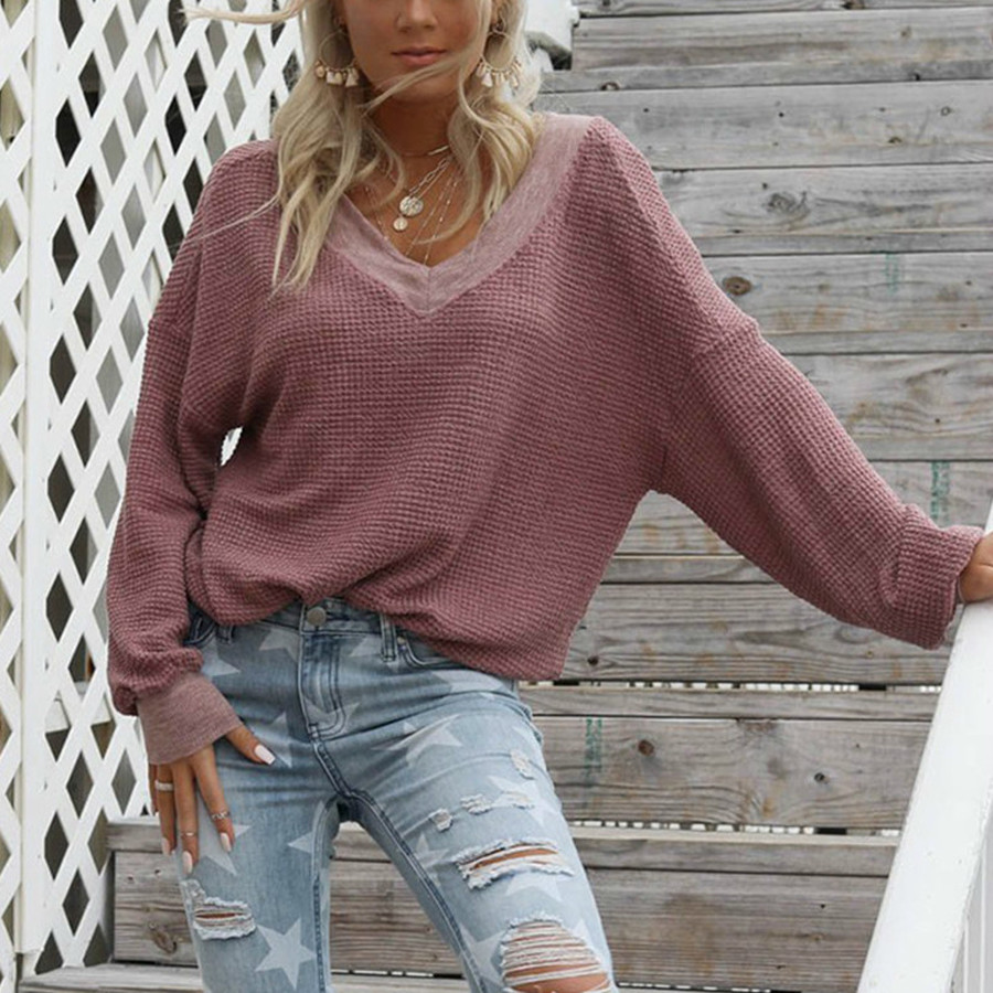 Simple Fashion Pullover Knitted Sweater Women Loose Pink Oversized Sweater Ladies Casual Warm Winter Clothes Jumper Tops Female