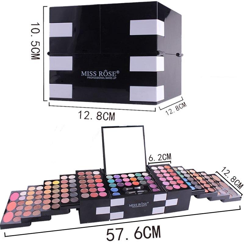 água longa duração shimmer sombra cosméticos kit escova caixa