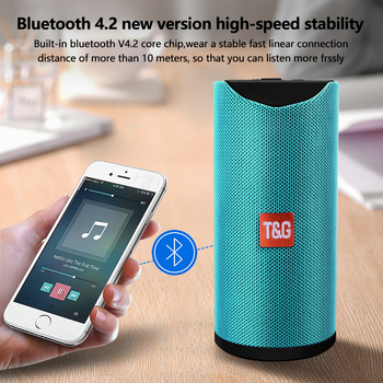 TG113 Portable Bluetooth Wireless Speakers Waterproof Stereo Column Outdoor Loudspeaker Speaker with FM Radio MP3 Bass Sound Box tg bluetooth speaker portable outdoor mini loudspeaker wireless with fm radio subwoofer column 3d 10w stereo bass phone holder