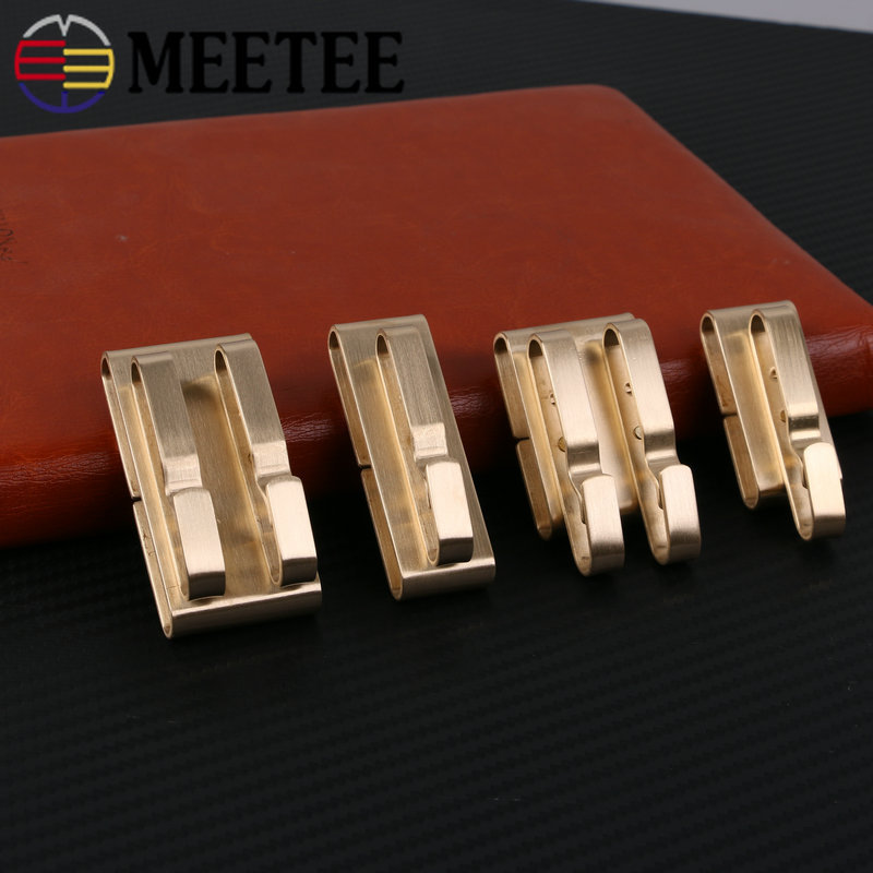 Deepeel 1pc ID55/40mm Stainless Steel Brass Belt Buckle Manual Belt Key Ring Hang Buckle DIY Leathercrafts Pants Accessories