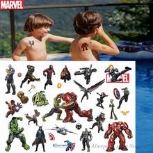 Hasbro Spiderman Marvel The Avengers Children Cartoon Temporary Tattoo Sticker For Boys Cartoon Toys Waterproof Party Kids Gift victorinox tinker small
