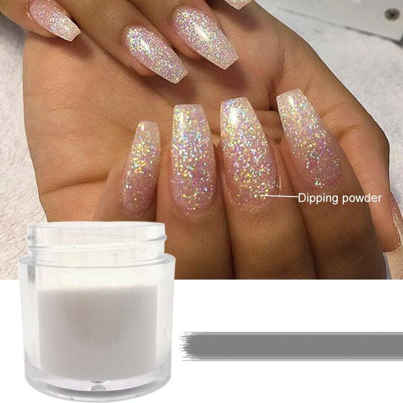 1 Box Holographic Dipping Powder Nail Dip Powder Set Pigment Glitter Nails Gradient Glitter Acrylic Powder Nail Art Decorations