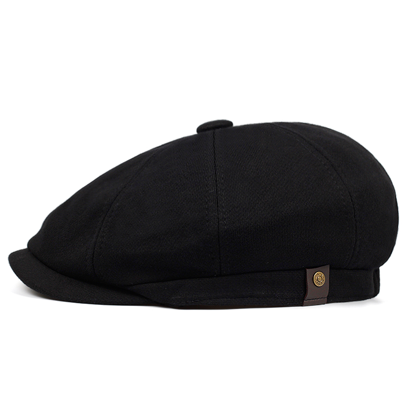 2019 Fashion Solid Color Four-color Beret Cap Outdoor Leisure Octagonal Hat Men And Women Spring And Autumn Warm Hats