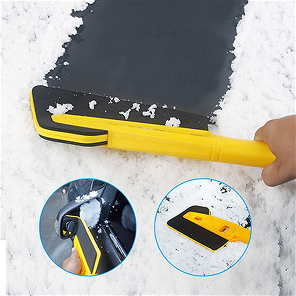 """SEAAN Detachable 25.2"""" Snow Brush with Ice Scraper and Foam Grip for Winter Outdoor Car Window Windshield Cleansing Brush