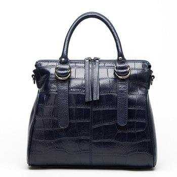 Ladies Handbag Leather Messenger Bag Shoulder Bag Women Casual Handbag Messenger Bag Fashion Crocodile Pattern