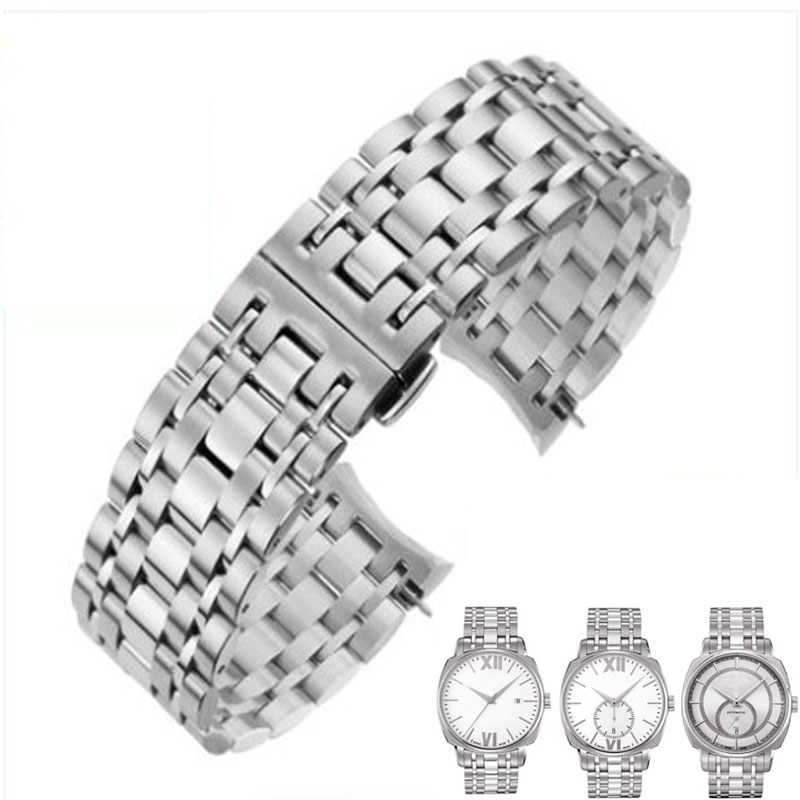 Watch Strap 20mm for T059507A Silver Colord Durable Stainless Steel Watch Band For T059528A