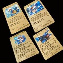 6 стилей листов Покемон металлические карты Blastoise серии Золотая коллекция карт подарок детская игровая коллекция карт