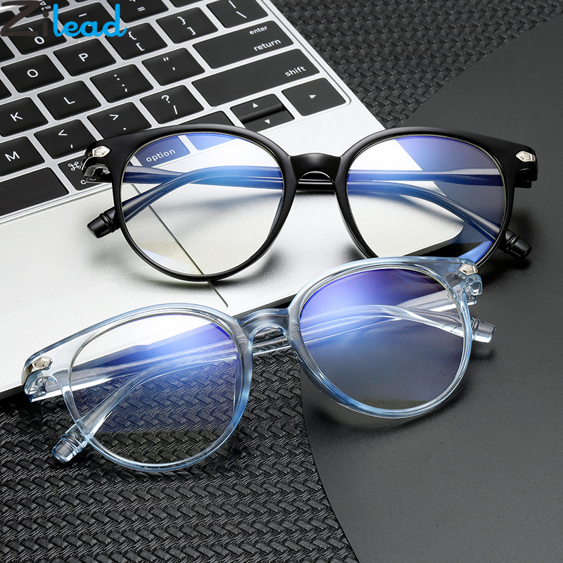 Zilead Round Jelly Finished Myopia Glasses Transparent Lens Shortsighted Eyeglasses Nearsighted Eyewear With Diopter -0.5to-6.0