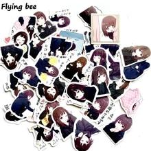 Flyingbee 39 pcs Cute menhera chan stickers Waterproof Car Sticker PVC scrapbooking for Laptop Notebook X0524