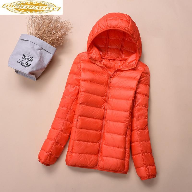 Winter Light Down Jacket Women Tops Hooded Korean Fashion Multicolor Coat Puffer Jackets Parka Camperas Mujer KJ473