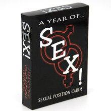 Juegos eróticos posiciones sexuales jugar tarjetas de papel de un año de sexo para adultos juego sexy juegos de cartas para Par juego sexo posición juguetes sexuales
