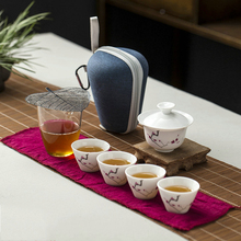 цена на Ceramic teapot gaiwan teacups  gaiwan tea cup for puer chinese tea pot portable travel tea set drinkware Free shipping