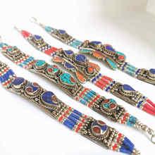Индийские браслеты с медной инкрустацией красочные каменные