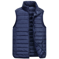 Winter 90% White Duck Down Vest Men Ultralight Sleeveless Vest Fashion Stand Collar Men Plus Size Loose Vest Jacket Men Coat