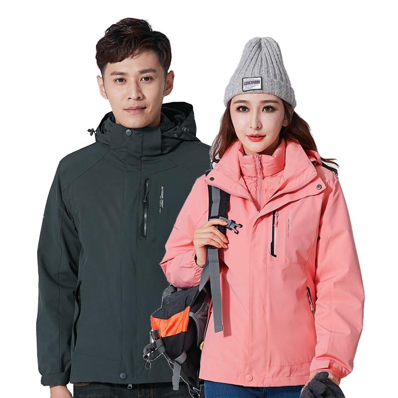 Hunting Warterproof Jacket Men Softsell Fleece Windbreaker Outdoor Winter Jacket Women Down Liner Coat Windstopper abrigo mujer