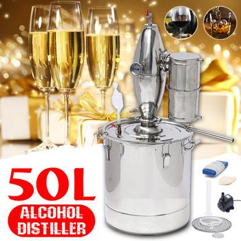 20 30 50L gospodarstwa domowego Moonshine gorzelni kocioł chłodnica ze stali nierdzewnej miedzi etanolu alkoholu warzenia wina wody olejek tanie i dobre opinie