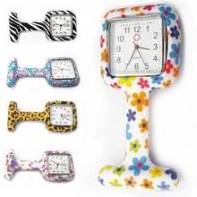 Часы женские карманные с силиконовым ремешком портативные квадратные