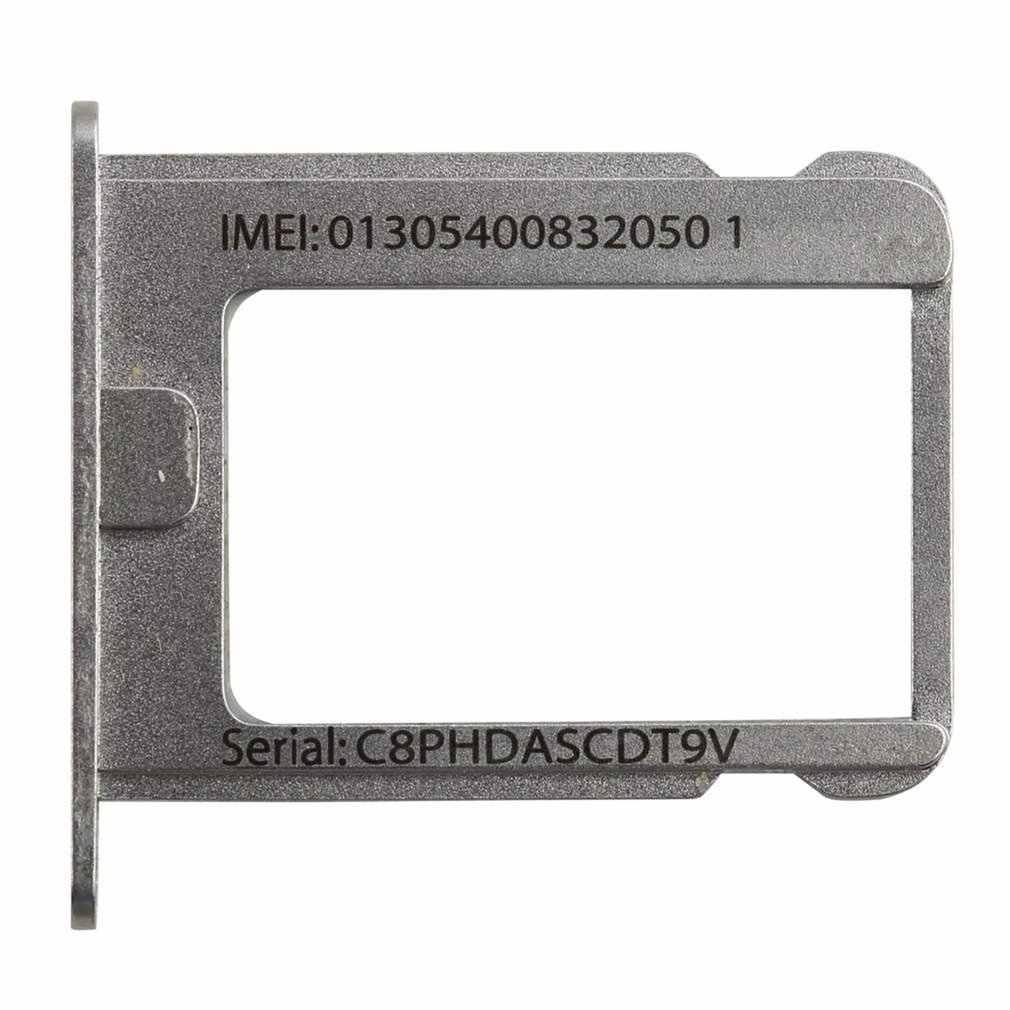 1 unids/lote Metal plateado Micro soporte para tarjeta SIM reemplazo de ranura para Apple para iphone 4 4G 4S 4th