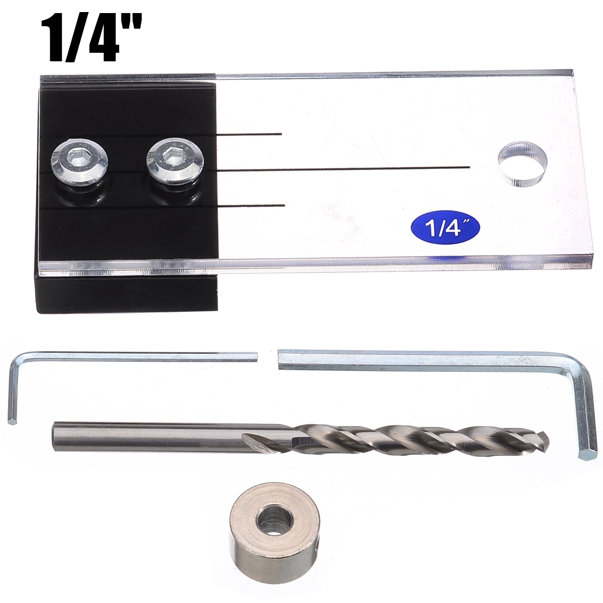 "New 1/4"" Dowel Drilling Jig Kit Wood Drilling Guide Hole Locator High Hardness Woodworking Tool For DIY Carpentry Tools"