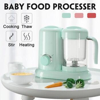 Procesador de alimentos eléctrico para bebés, máquina para cocinar a vapor, amoladora,...