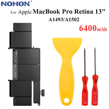 Originale Batteria Del Computer Portatile NOHON A1493 per Apple MacBook Pro Retina 13 \